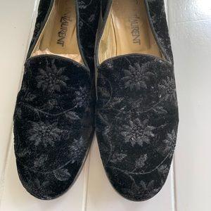 Yves Saint Laurent Black Tuxedo Loafers Size 7.5 N